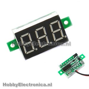 DC Digitale display voltmeter