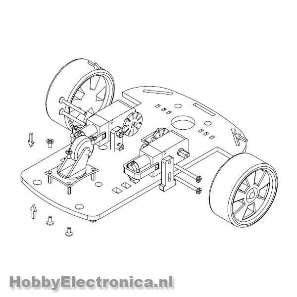 smart car robot chassis 2wd platform