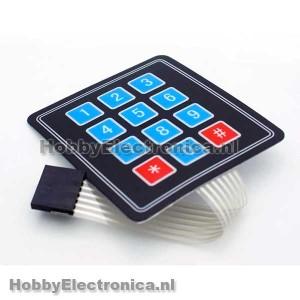 4x3 Membranematrix keypad
