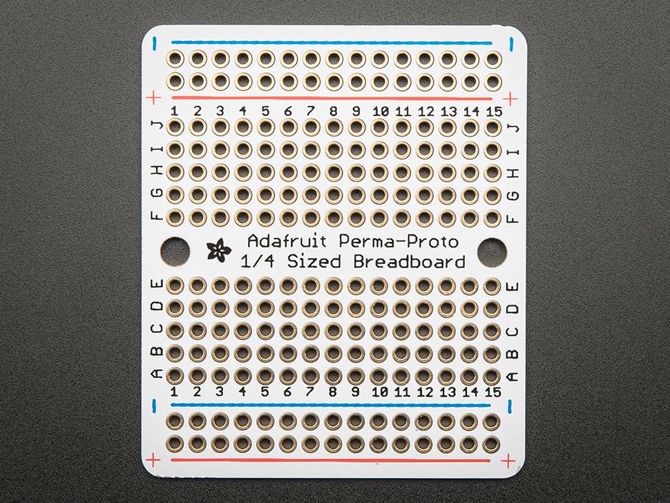 Adafruit Perma-Proto Quarter-sized Breadboard PCB
