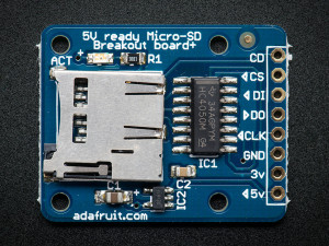 MicroSD card breakout