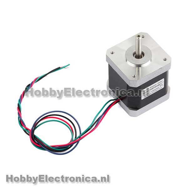 Nema 17 stappen motor wt42byghw811 hobbyelectronica for Nema 17 motor specs
