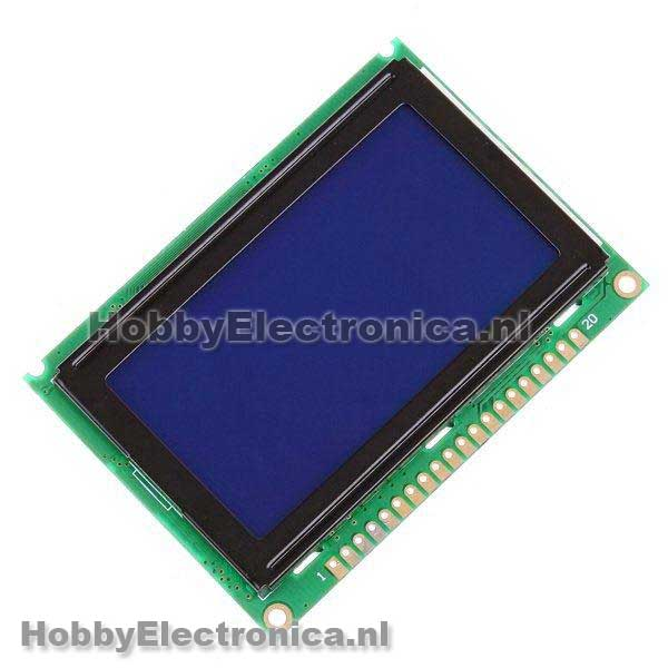 128 x 64 pixel LCD display