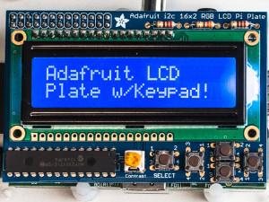 Adafruit blauw wit 16x2 LCD keypad kit