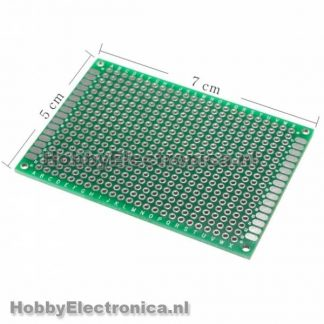 Prototyping pcb board dubbelzijdig 5x7cm