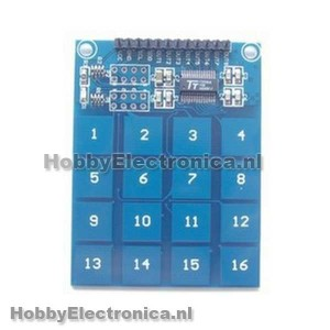 TTP229 capacitive touch