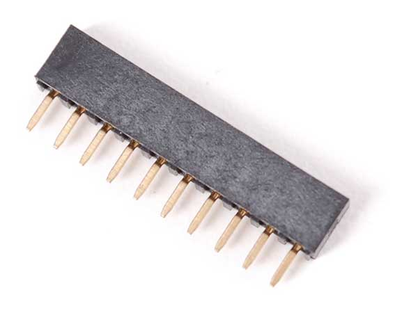 2mm 10 pin socket header voor XBee