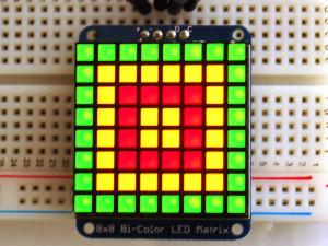 Bicolor LED Square Pixel Matrix with I2C Backpack