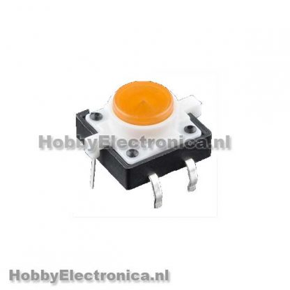LED Tactile button geel