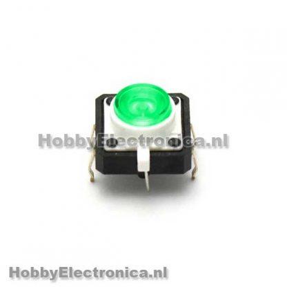 LED Tactile button groen