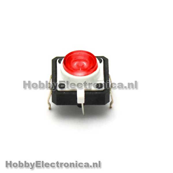 LED Tactile button rood
