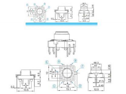 LED Tactile button schema