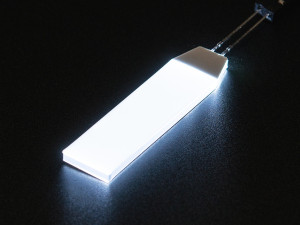 Witte LED Backlight module klein 12mm x 40mm