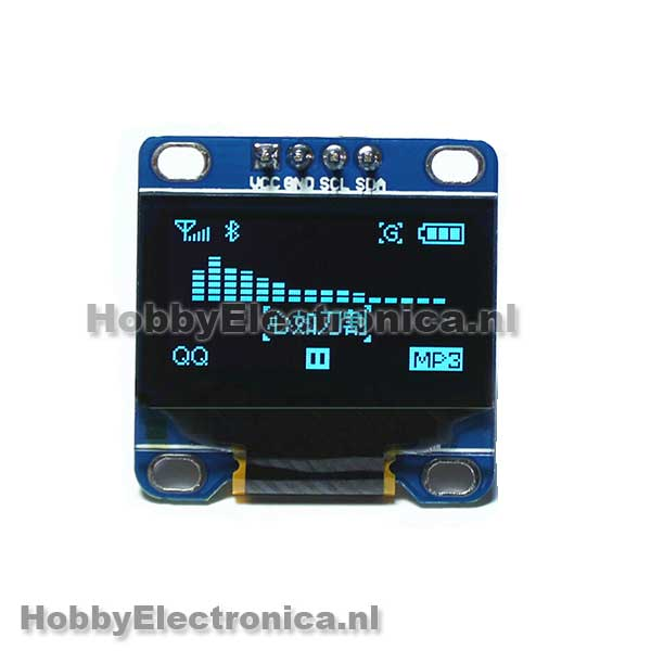 128X64 OLED blauw i2c