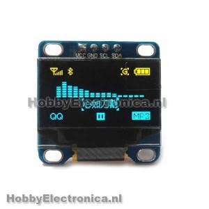 128X64 OLED geel blauw i2c