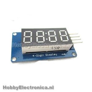4 Digit klok display