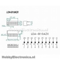 10 Segment LED bar groen schema