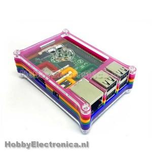 Rainbow behuizing voor Raspberry Pi 2 B
