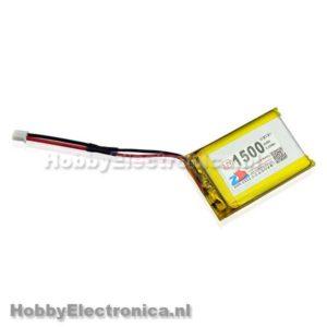 Lithium Ion Polymer 3.7V 1500mAh batterij