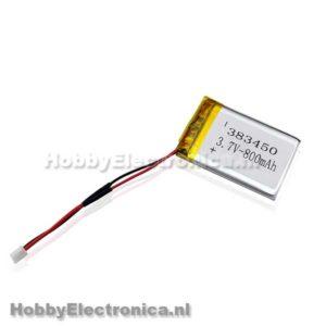 Lithium Ion Polymer 3.7V 800mAh batterij