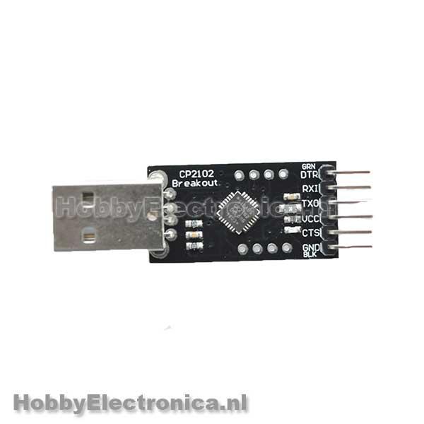 CP2102 module met DTR pin