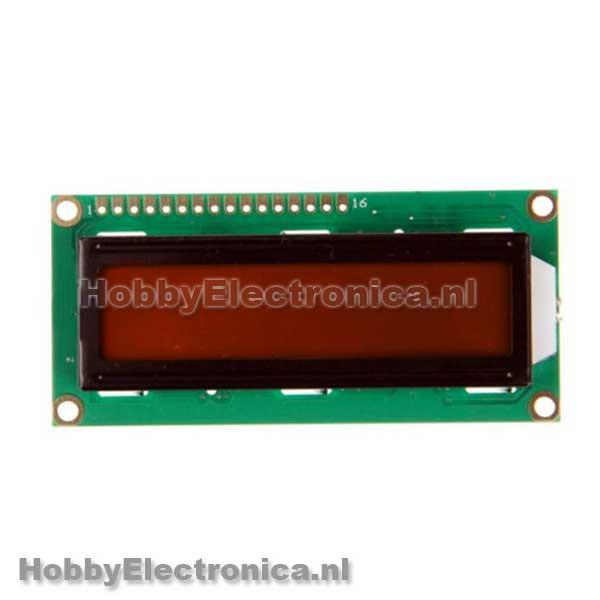 1602 LCD display oranje