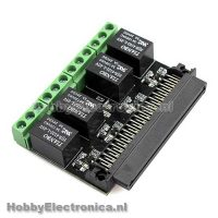 Microbit relais 4 kanaals