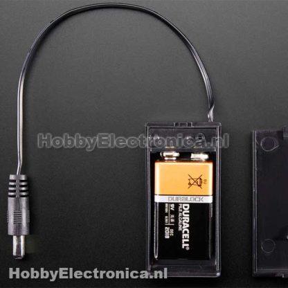 9v batterij houder met plug