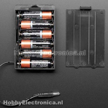 Batterij houder 6 x AA met plug
