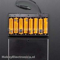 Batterij houder 8 x AA met switch en plug