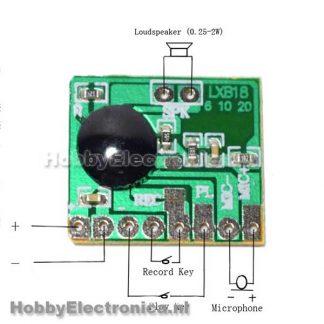 ISD1806 Geluid opnemen